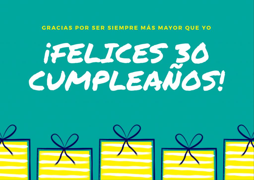 frases para felicitar los 30 años